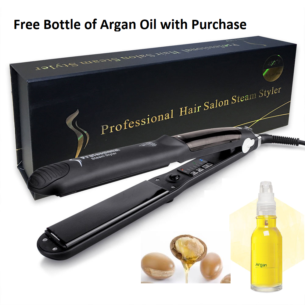 Professional Argan Oil Ceramic Steam Hair Straightener