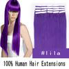 "24"" 70g Tape Human Hair Extensions #lila"