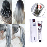 1Pc 100Ml Fashion Light Gray Color Natural Permanent Super Hair Dye Cream (Size: One Size)