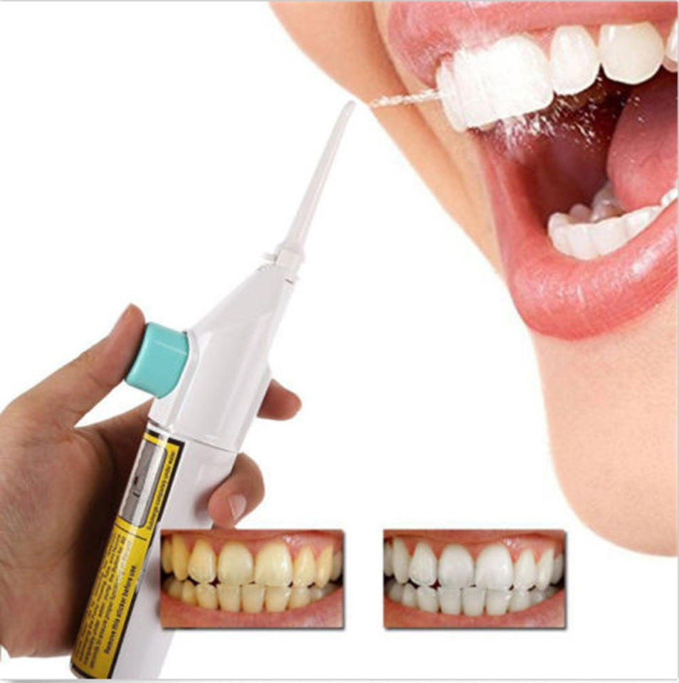 No Batteries Portable Power Floss Dental Teeth Cleansing Oral Care Tool