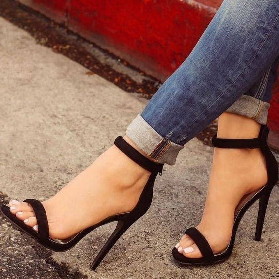 Summer Fashion Women Sexy Ankle Straps High Heel Sandals