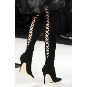 Sexy Women Thigh High Heel Boots