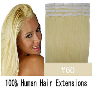 "24"" 70g Tape Human Hair Extensions #60"