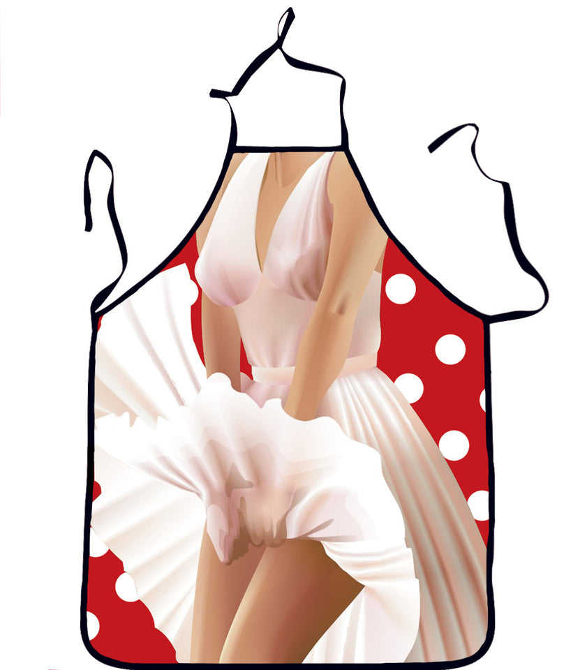 Kitchen Sexy ApronTablier Digital Printed Bibs Woman Funny Pinafore Cooking Baking Party Cleaning Cute Aprons For Women Avental