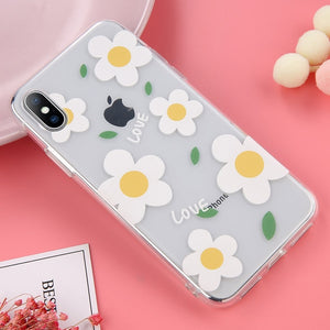 Lovebay Soft Clear Phone Cases For iphone For iphone XS Max / Flower 2 White