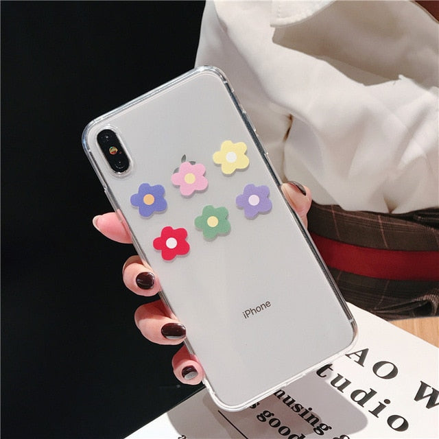 Lovebay Soft Clear Phone Cases For iphone For iphone XR / Flower 4