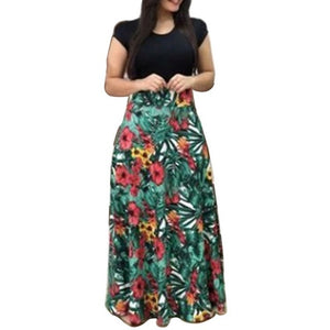 Female Floral Pencil Dress Leaves Long 3 / S
