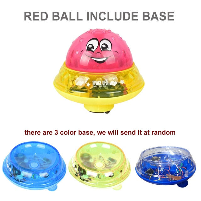 Electric Induction Water Spray Toy red ball base