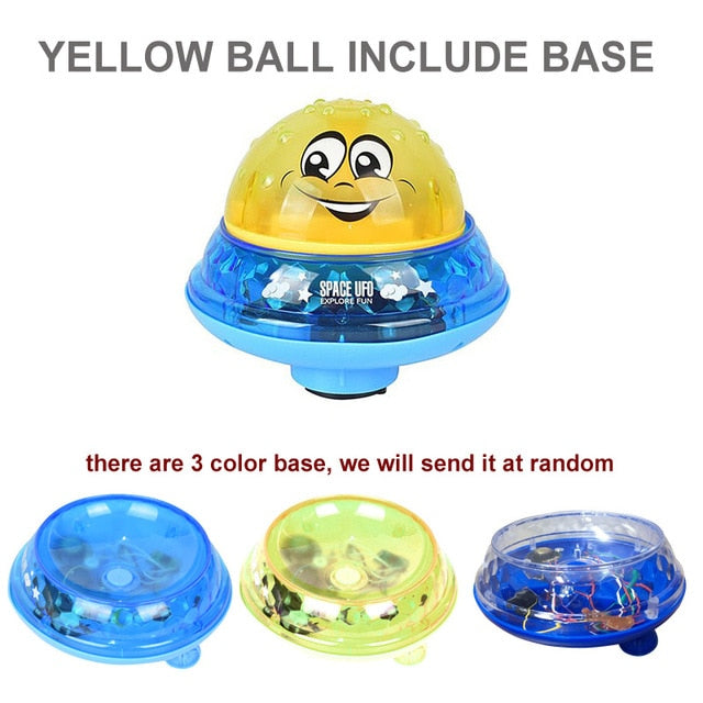 Electric Induction Water Spray Toy yellow ball bas