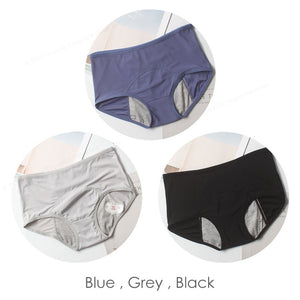 Leak-proof female underwear Blue Grey Black / L / 3PCS