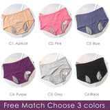 Leak-proof female underwear Free Match 3 Colors / L / 3PCS