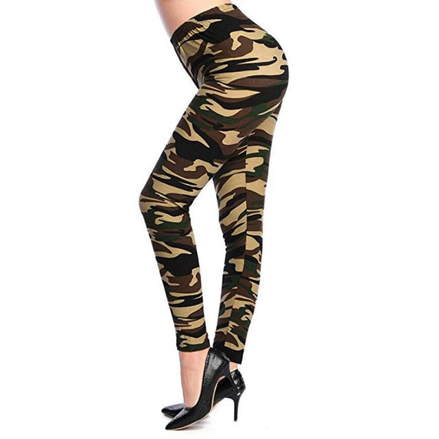 Camouflage Printed Leggings K208 Camouflage 10 / One Size