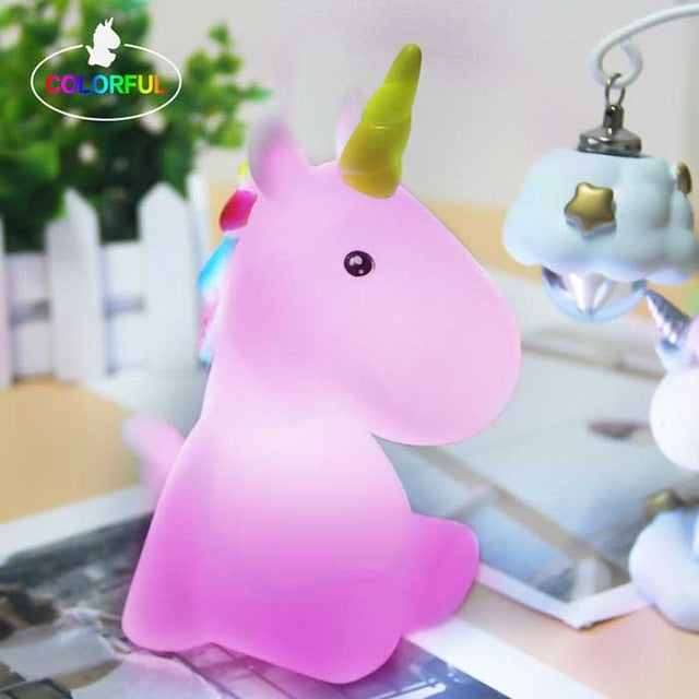 UNICORN FRIEND LAMP Colorful unicorn 1