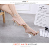 Transparent high heels women shoes