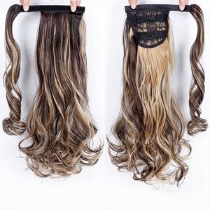 Long Wavy Wrap Around Clip In Ponytail Hair Extension
