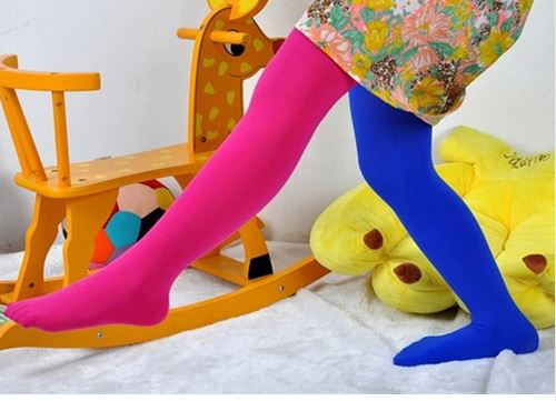 Candy Color Mixed Tights for girls