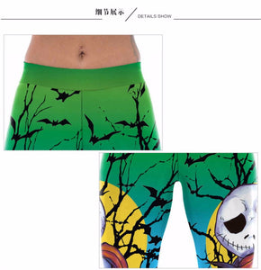 Womens Halloween Printed Leggings