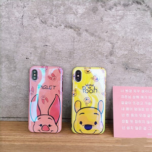 Cute Pig Bear Cartoon Case For Samsung Galaxy S10 S9 S8