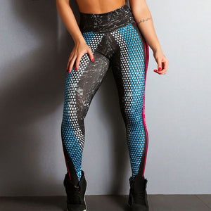 Women cartoon printed fitness leggings