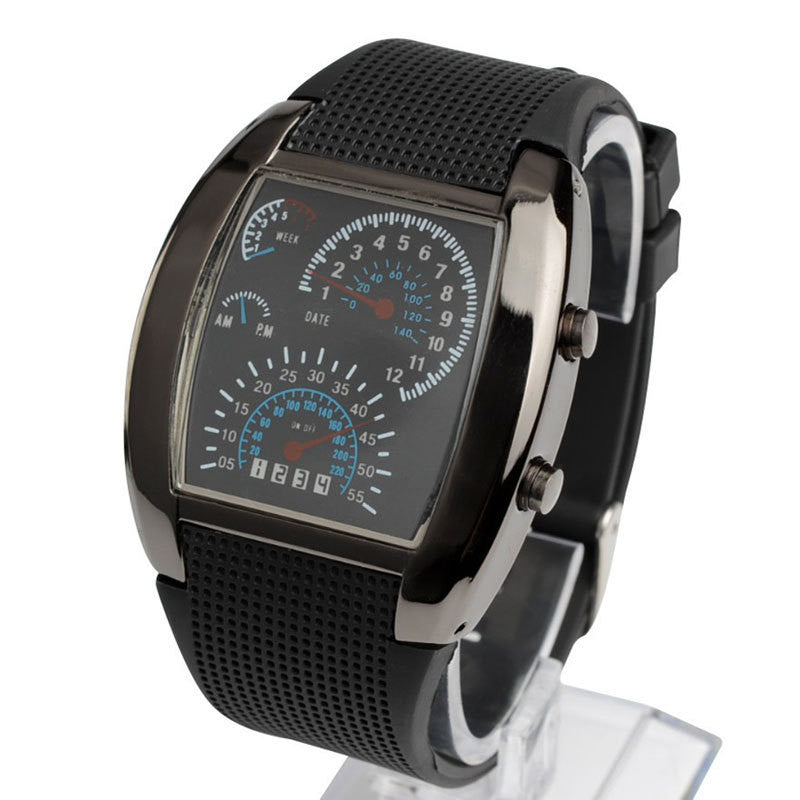 Black Speedometer Wrist Watch