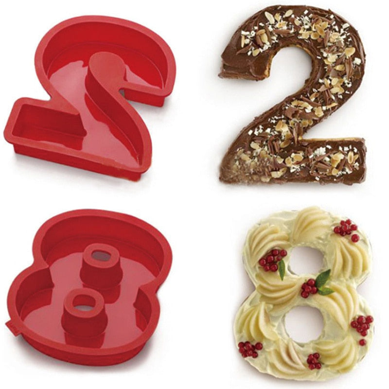 Number Cake Mold