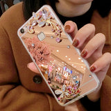 Diamond Rhinestone Mirror Cover For iPhone