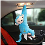 Car Home Hanging Monkey Pippi Tissue Holder Blue