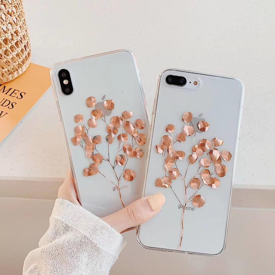 Luxury Glitter Transparent iPhone case