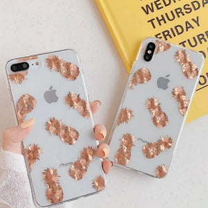 Luxury Glitter Transparent iPhone case For iPhone XS Max / 05