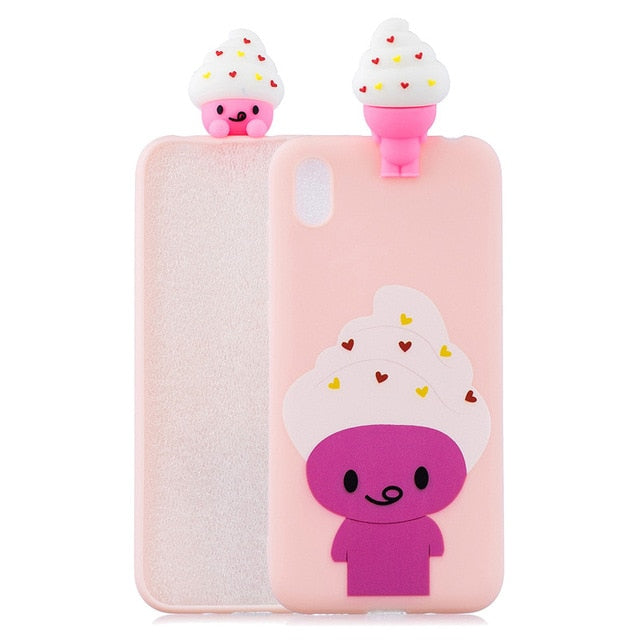 Honor 8S Huawei Y5 Cartoon Silicone Soft Phone Case Huawei Y5 2019 / G
