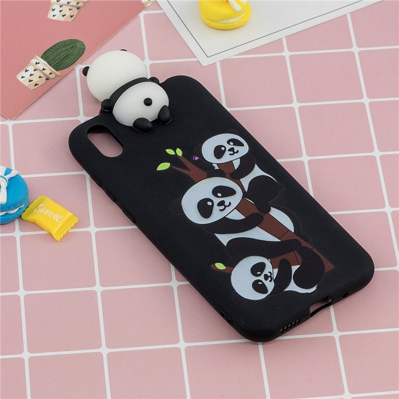 Honor 8S Huawei Y5 Cartoon Silicone Soft Phone Case