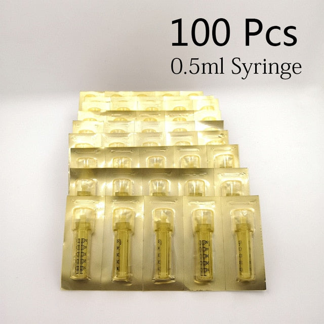 Hyaluron Syringe Hyaluron needle Ampoule head for hyaluronic Pen 100pc 0.5 Syringe