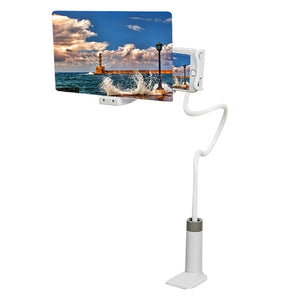 Mobile Phone HD Projection Bracket White 8inch