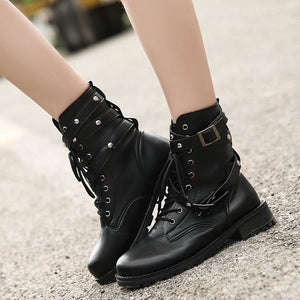 Women Motorcycle Boots boots Foxy Beauty