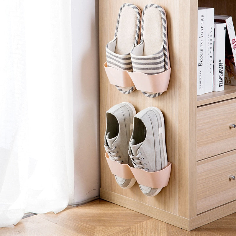 Wall-Mounted Sticky Hanging Shoe Hook
