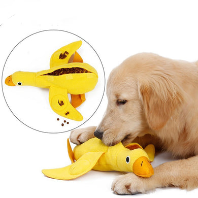 Food training interactive squeaky puppy toy