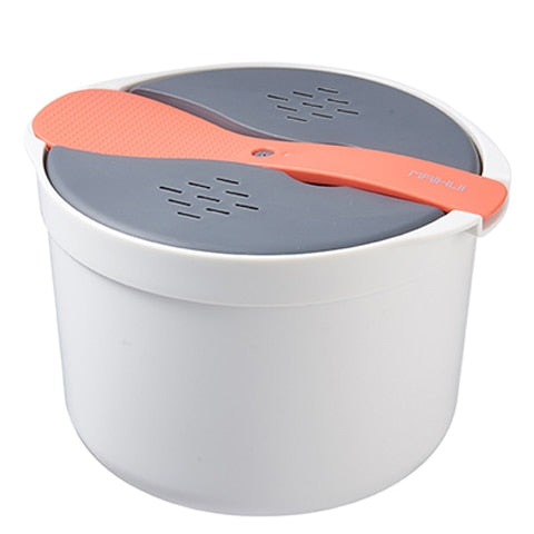 Microwave Steaming Cooker Orange