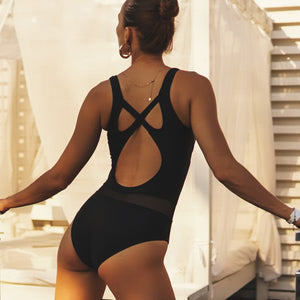 Sexy Mesh One Piece Swimsuit