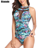 Halter push up mesh swimwear B1015 / L