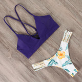 Brazilian push up flower bikini set B3739NB / S