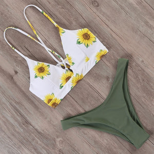 Brazilian push up flower bikini set B3771AG / L