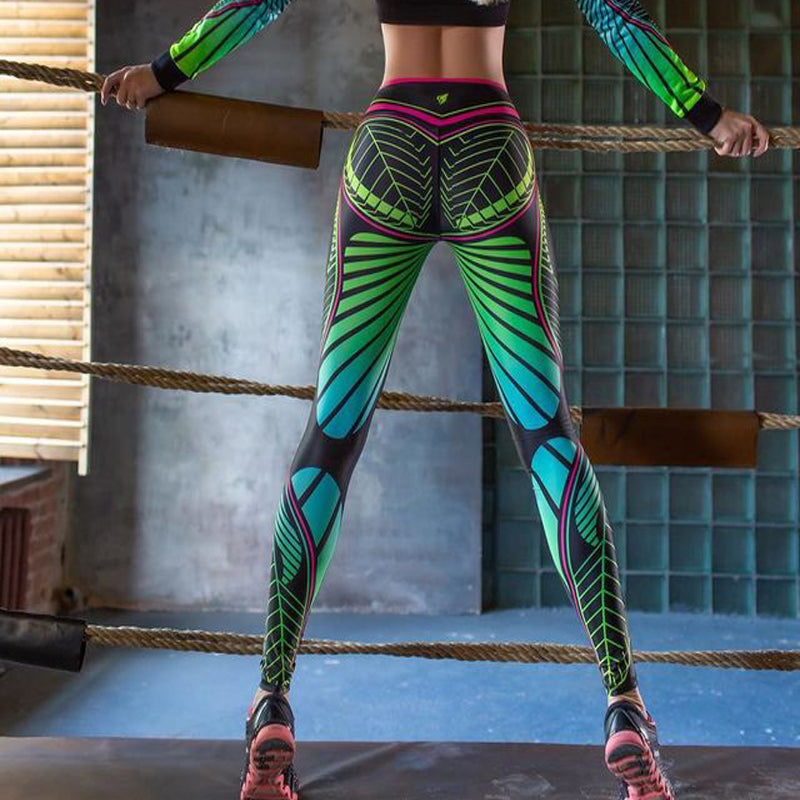 Push up printed sports leggings