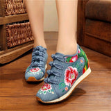 Flower Embroidered Sneakers