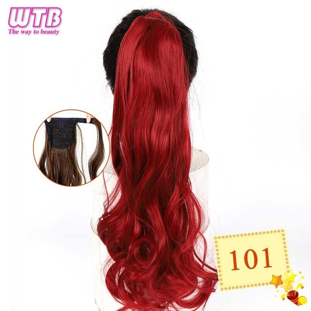 Long Wavy Wrap Around Clip In Ponytail Hair Extension 101 / 22inches