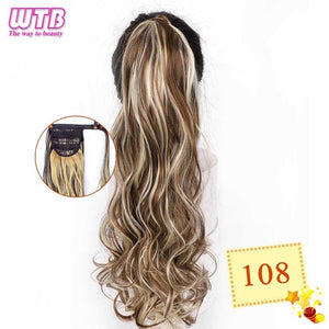 Long Wavy Wrap Around Clip In Ponytail Hair Extension 108 / 22inches