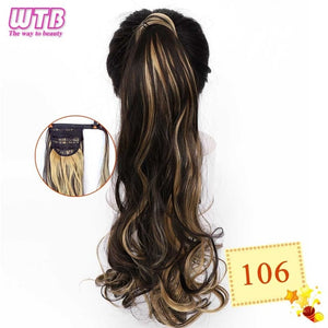 Long Wavy Wrap Around Clip In Ponytail Hair Extension 106 / 22inches