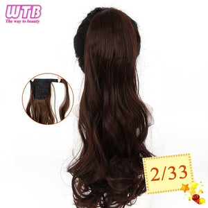 Long Wavy Wrap Around Clip In Ponytail Hair Extension 2m33 / 22inches