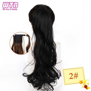 Long Wavy Wrap Around Clip In Ponytail Hair Extension 2 / 22inches