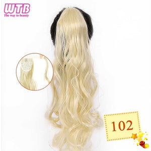 Long Wavy Wrap Around Clip In Ponytail Hair Extension 102 / 22inches