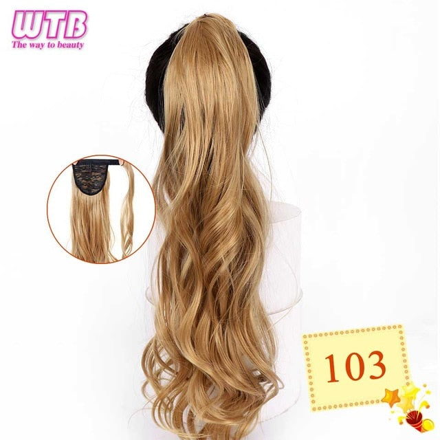 Long Wavy Wrap Around Clip In Ponytail Hair Extension 103 / 22inches